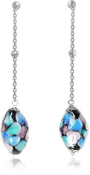 Antica Murrina Veneziana Smeralda Glass Beads Sterling Silver Earrings