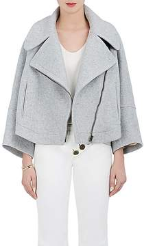 Chloé Women's Brushed Melton Asymmetric-Front Jacket