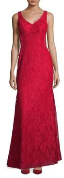 Xscape Evenings Double-V Lace Flare Gown