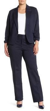 Atelier Luxe Signature Ponte Pinstripe Pants (Plus Size)