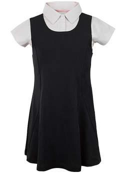 U.S. Polo Assn. USPA Short-Sleeve Layered Knit Dress - Preschool Girls 4-6x