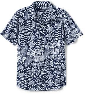 Lands' End Lands'end Boys Husky Printed Woven Shirt
