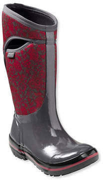 L.L. Bean Women's Bogs Plimsolls Boots, Tall Quilted Floral