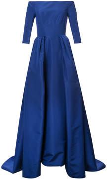 Carolina Herrera off the shoulder solid faille gown