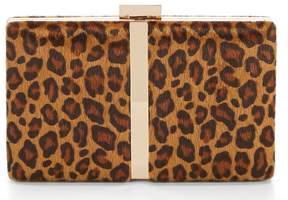 Adrianna Papell Vannah Leopard-Print Faux-Haircalf Minaudiere