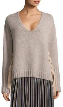 Agnona Wool Cashmere & Mink Pullover