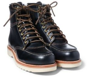 Ralph Lauren Brunel Leather Work Boot Black 8