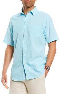 Daniel Cremieux Fine Line Linen Short-Sleeve Woven Shirt