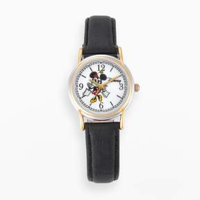 Disney Disney's Minnie Mouse Women's Two Tone Leather Watch