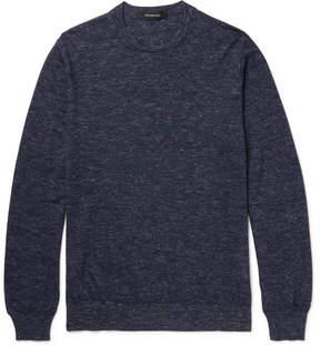 Ermenegildo Zegna Mélange Cashmere, Silk And Linen-Blend Sweater