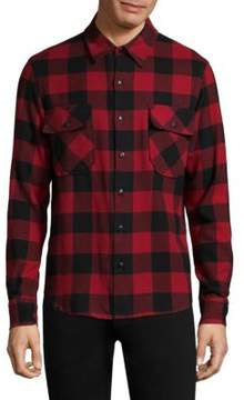 Frame Tartan Cotton Shirt Jacket