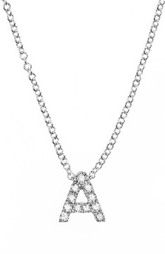 Bony Levy Women's Pave Diamond Initial Pendant Necklace (Nordstrom Exclusive)