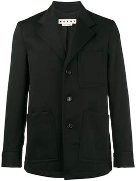 Marni Gabardine patch pocket blazer