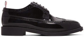 Thom Browne Black Rubber Longwing Brogues