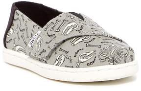 Toms Alpargata Glow-in-the-Dark Bones Slip-On
