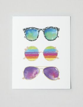 American Eagle Outfitters Perspectives In Print Sunglasses Print