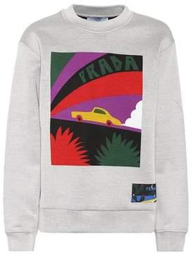 Prada Printed cotton-blend sweatshirt