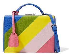 Mark Cross Grace Small Color-Block Textured-Leather Shoulder Bag