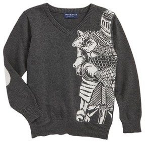 Andy & Evan Toddler Boy's Knight Intarsia Sweater