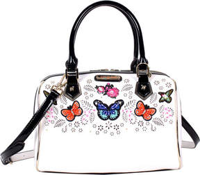 Nicole Lee Visola Butterfly Embroidered Boston Shoulder Bag (Women's)