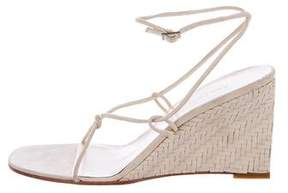 Ralph Lauren Suede Wedge Sandals
