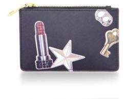 Marc Jacobs Top Zip Leather Pouch - BLACK MULTI - STYLE