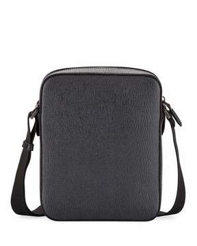 Salvatore Ferragamo Revival Men's Leather Crossbody Bag, Gray