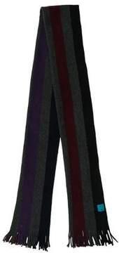 Paul Smith Striped Fine Knit Scarf
