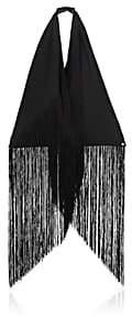 MM6 MAISON MARGIELA Women's Fringed Canvas Triangle Bag-Black