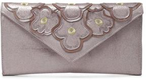 Women's REIKASP - Tumbled Metallic Brush Off Leather Clutch