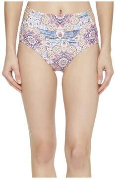 Luli Fama Azucar Delicia Braided Sides High Waist Bikini Bottom Women's Swimwear