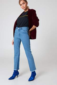 NA-KD Na Kd Inseam Gusset Denim Jeans