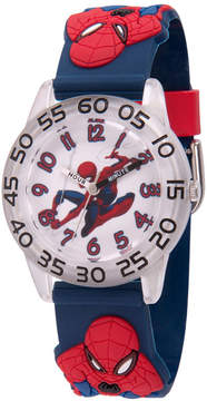 Marvel Spiderman Boys Blue Strap Watch-Wma000166