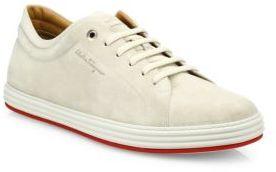 Salvatore Ferragamo Newport Suede Sneakers