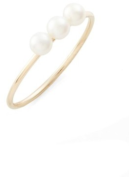 Ef Collection Women's Pearl Stacking Ring