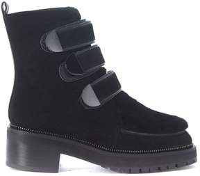 Kat Maconie Vanna Ankle Boots In Black Suede And Shearling