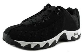 K-Swiss St329 Cmf Round Toe Leather Sneakers.
