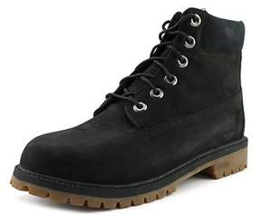 Timberland 6 Premium Boot Youth Round Toe Leather Black Boot.