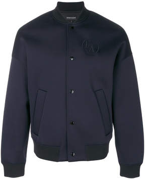 Emporio Armani embroidered logo bomber jacket