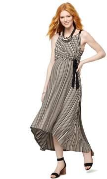 A Pea in the Pod Side Tie Maternity Dress