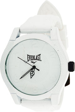 Everlast Mens White Silicone Strap Sport Watch
