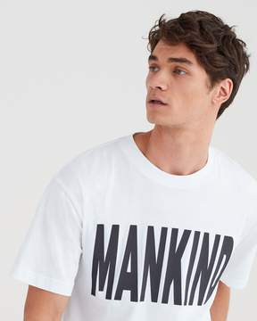 7 For All Mankind Mankind Oversized Tee in White