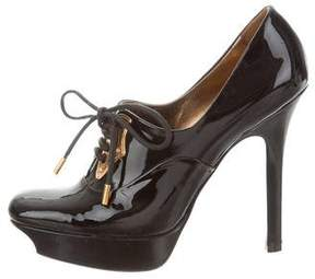 Gucci Patent Leather Platform Booties