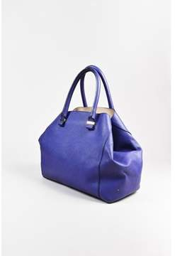 Victoria Beckham Pre-owned Purple Leather liberty Tote Bag.