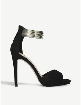 Miss KG Fiona suedette bangle-strap sandals