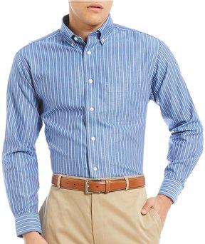 Daniel Cremieux Signature Non-Iron Royal Oxford Stripe Long-Sleeve Woven Shirt