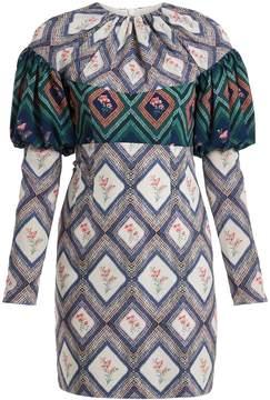 Emilia Wickstead Lavinia tapestry-print gathered crepe mini dress