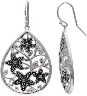 Brilliance+ Brilliance Silver Plated Marcasite Starfish Teardrop Earrings
