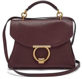 Salvatore Ferragamo Gancini Top Handle Leather Bag - Womens - Burgundy