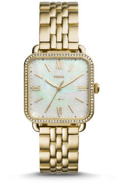 Fossil Micah Three-Hand Gold-Tone Stainless Steel Watch